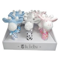 12Pk Boxed Giraffe Squeakers