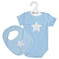 Clothing Set SS - Blue Scribble Star - 100% Cotton