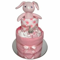 Nappy Cake - Bunny Pink