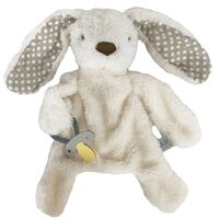 Bunny Comforter with Dummy Holder - Grey - 30cm