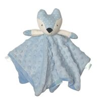 Fox Comforter with Rattle - Blue - 30cm