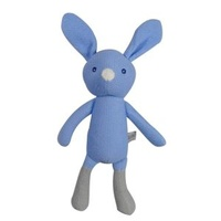 Knitted Dangly Bunny - Blue - 40cm