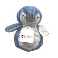 Knitted Penguin Roly Poly- Blue - 16cm