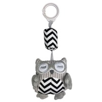 Owl Chime Toy - Black ZigZag