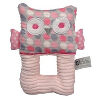 Owl Ring Rattle - Pink Spot - 17cm